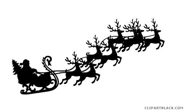 clipart reindeer silhouette #1008.