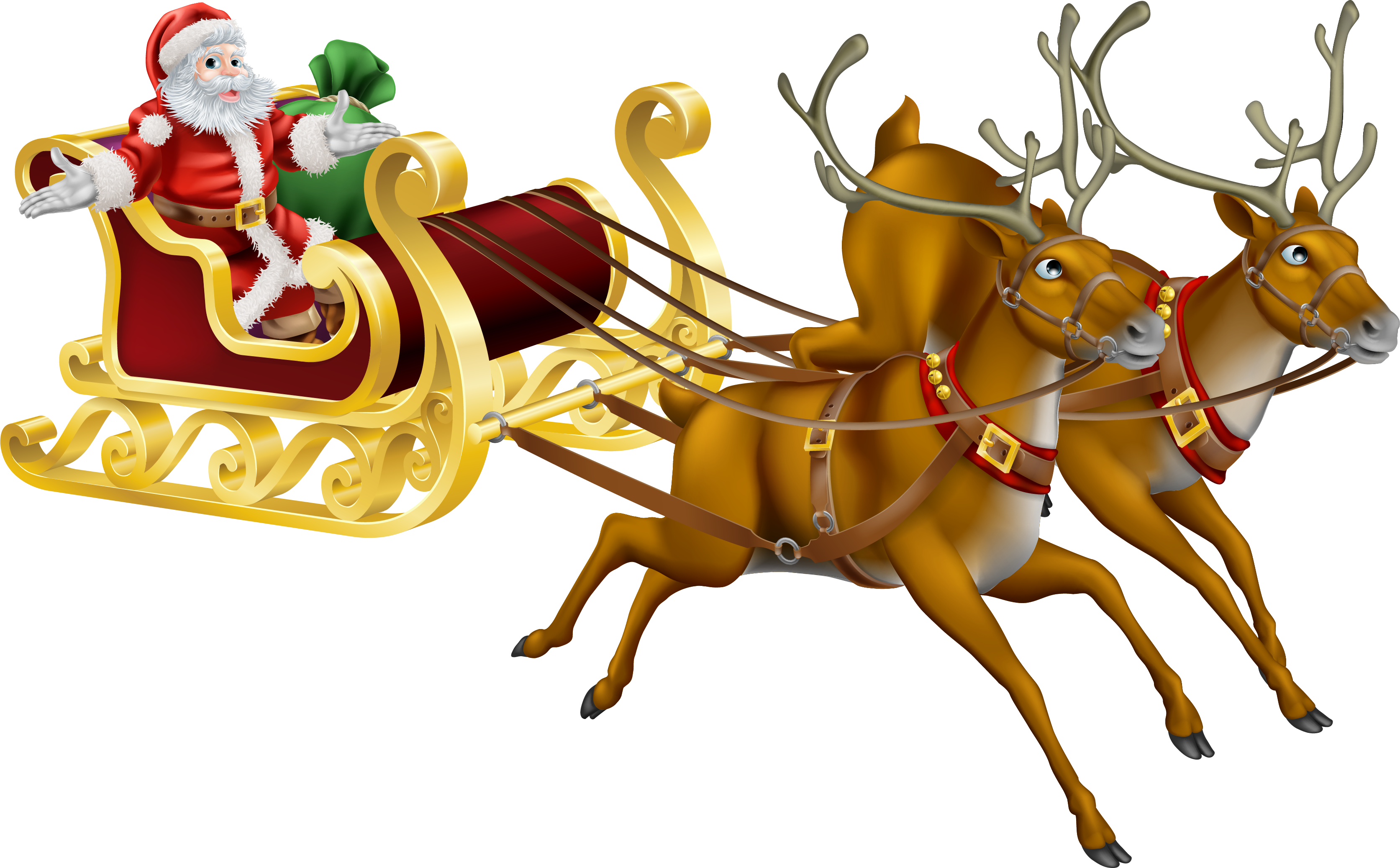 Rudolph Santa Claus Reindeer Christmas.