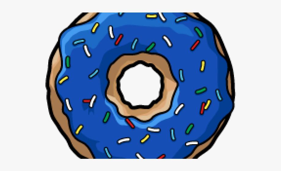 Blue Clipart Donut.