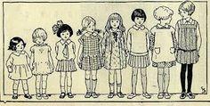 8 Siblings Clipart.