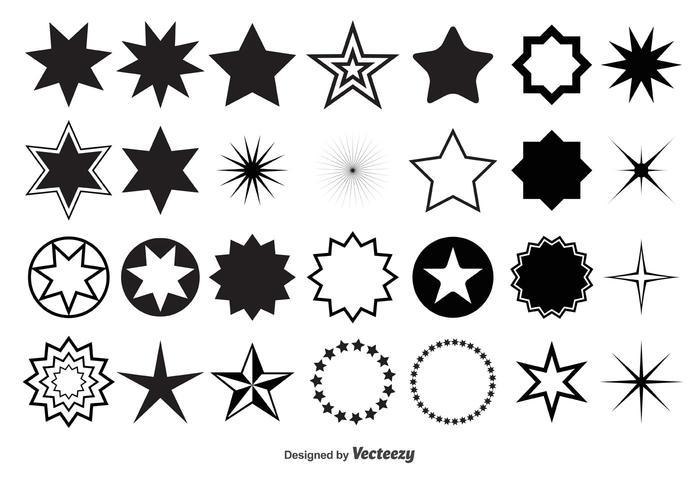 Vector Star Shapes.