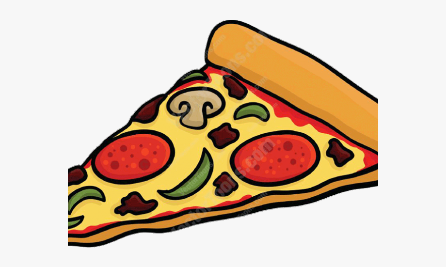 Pizza Slice Cartoon.