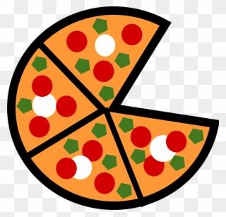 Pizza Split Into 8 Slices Clipart.