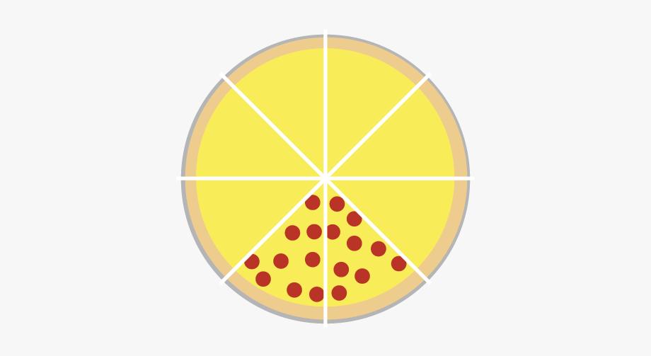 Pizza Split Into 8 Slices.