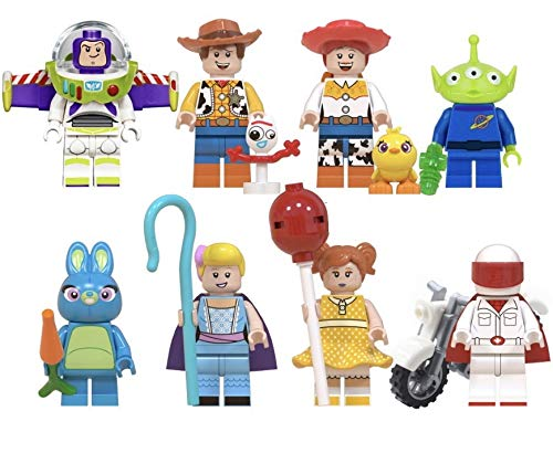 Zyno 8 Toy Story 4 Minifigures with Accessories, Action.