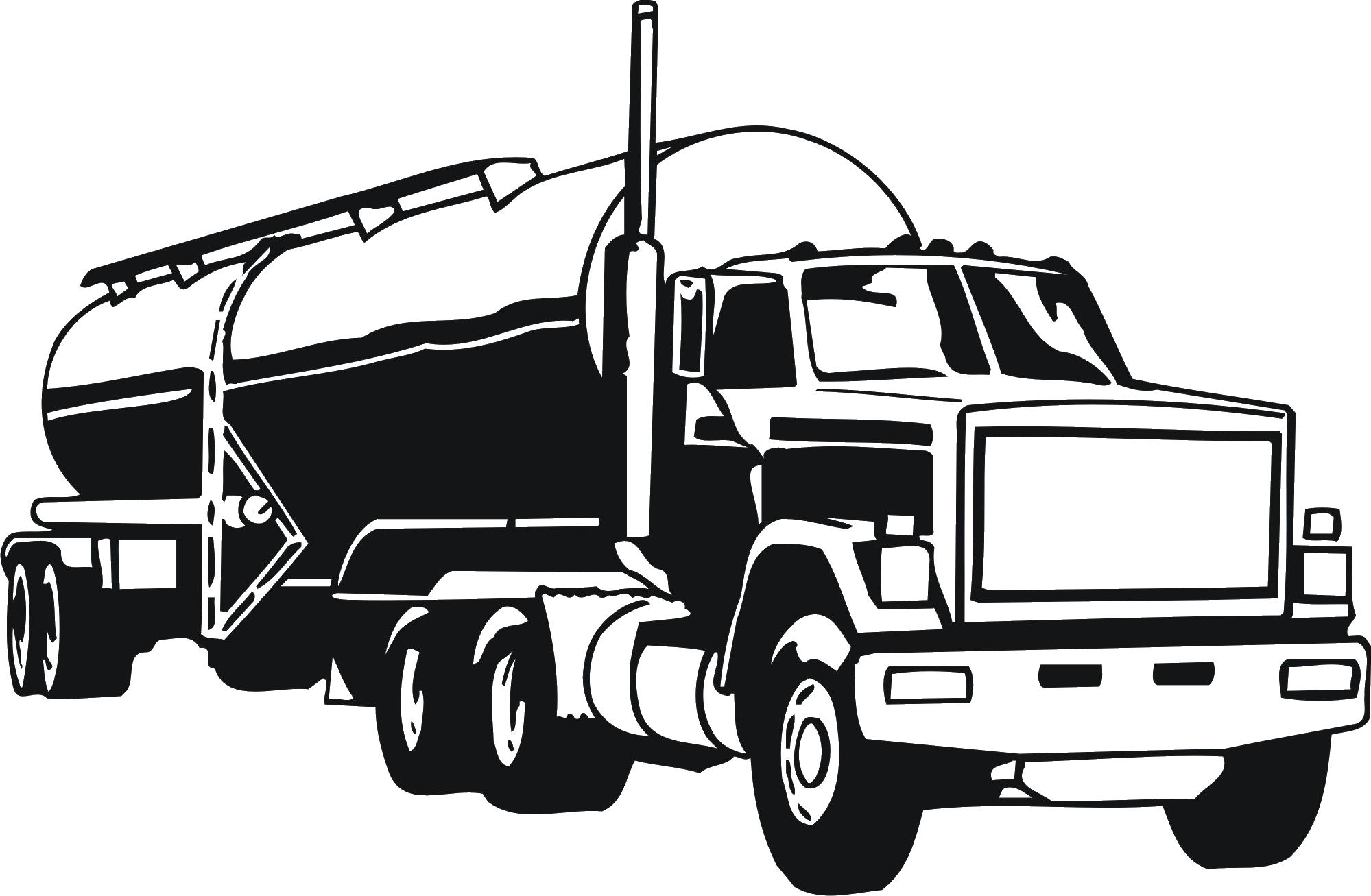 Peterbilt Tank truck Semi.
