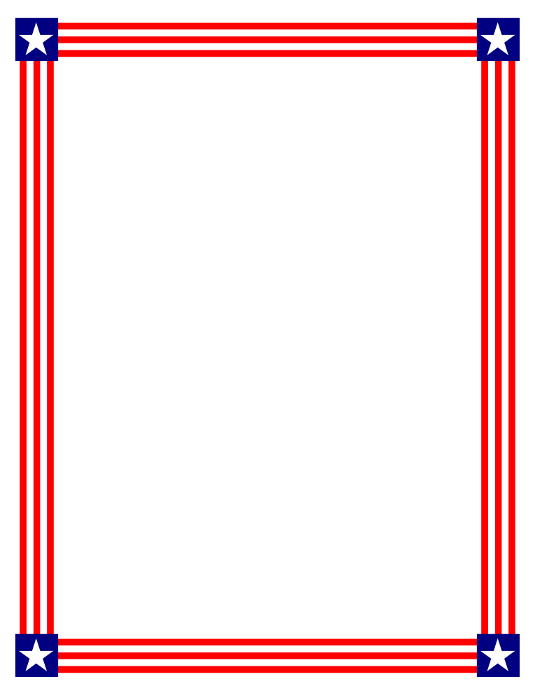 American Flag Borders And Frames Clipart.