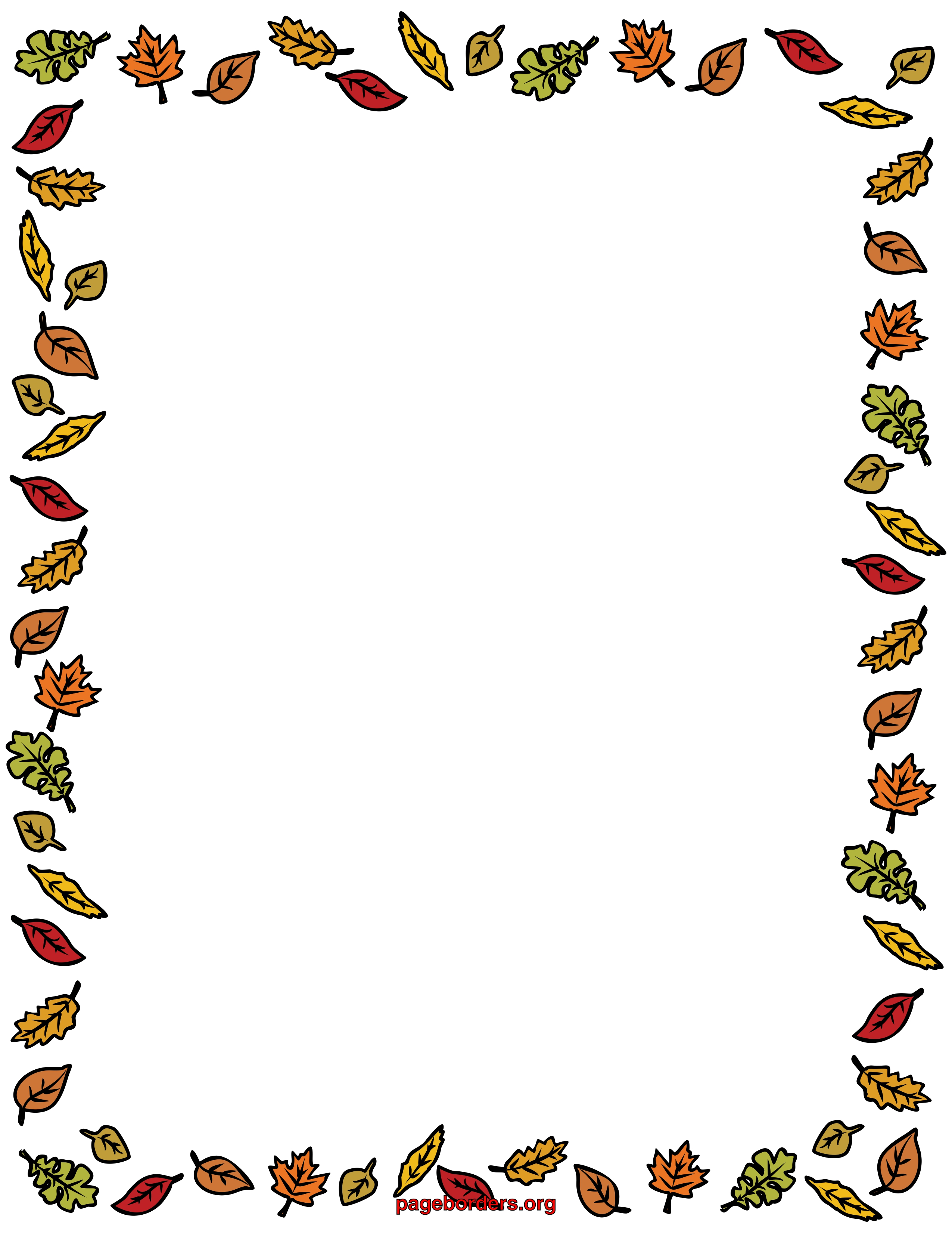 Nature 8x11 Page Border Clipart.