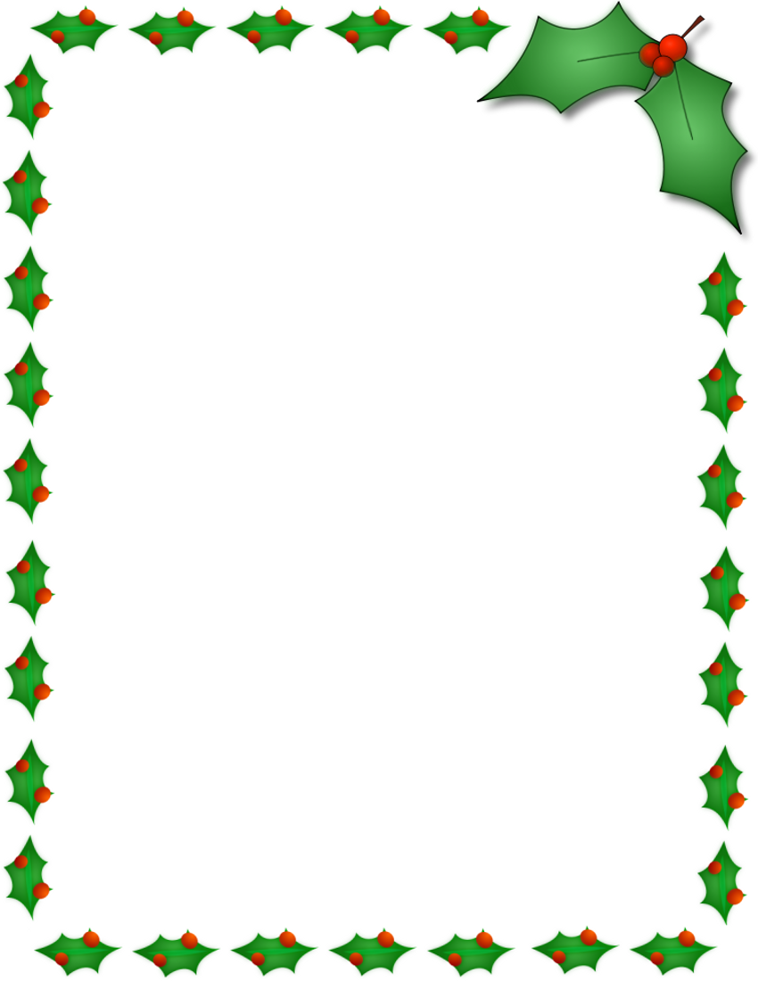 11 Free Christmas Border Designs Images.