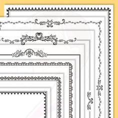 Page Borders Frames GOLD Wedding Digital Clip Art 8.5 x 11.