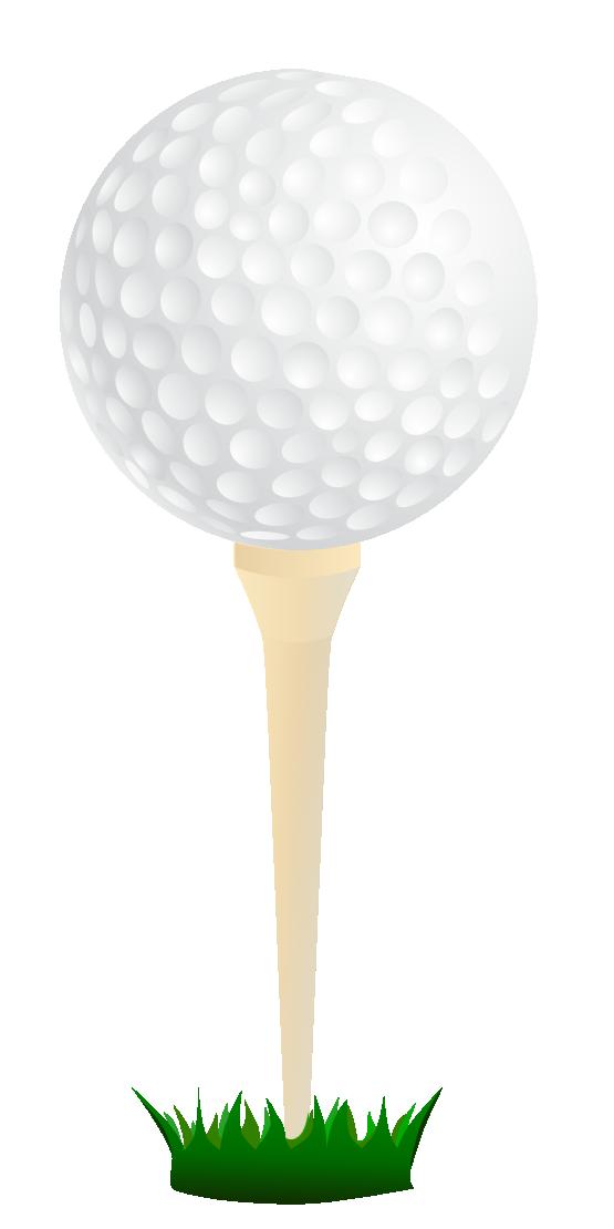Free Golf Ball on a Tee Clip Art.
