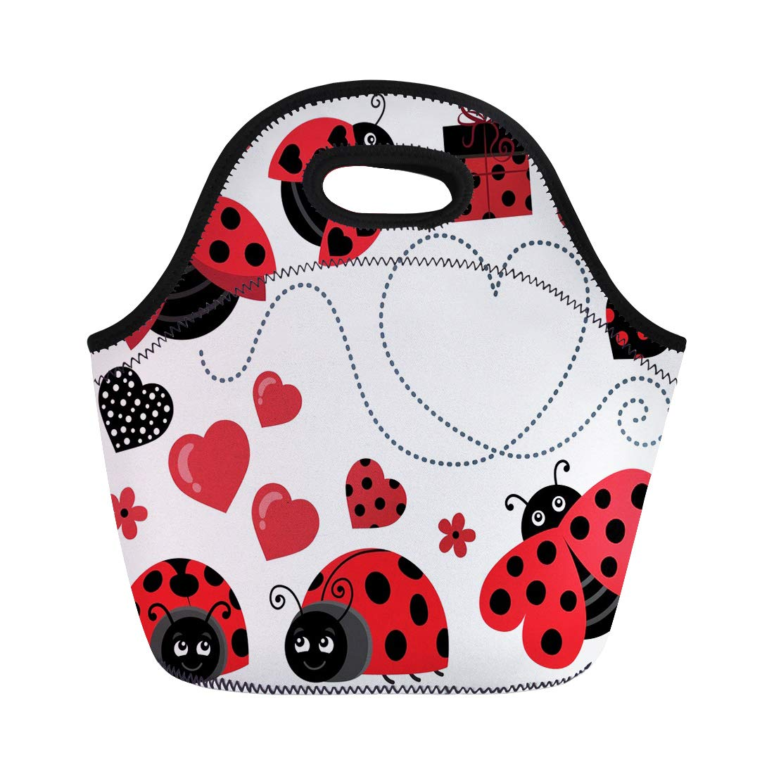 Amazon.com: Semtomn Lunch Tote Bag Clipart Valentine.