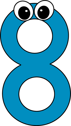 Number Eight Clipart Free.