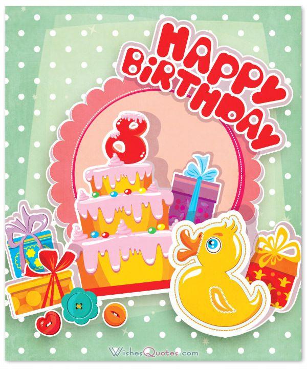 8th Birthday Wishes.