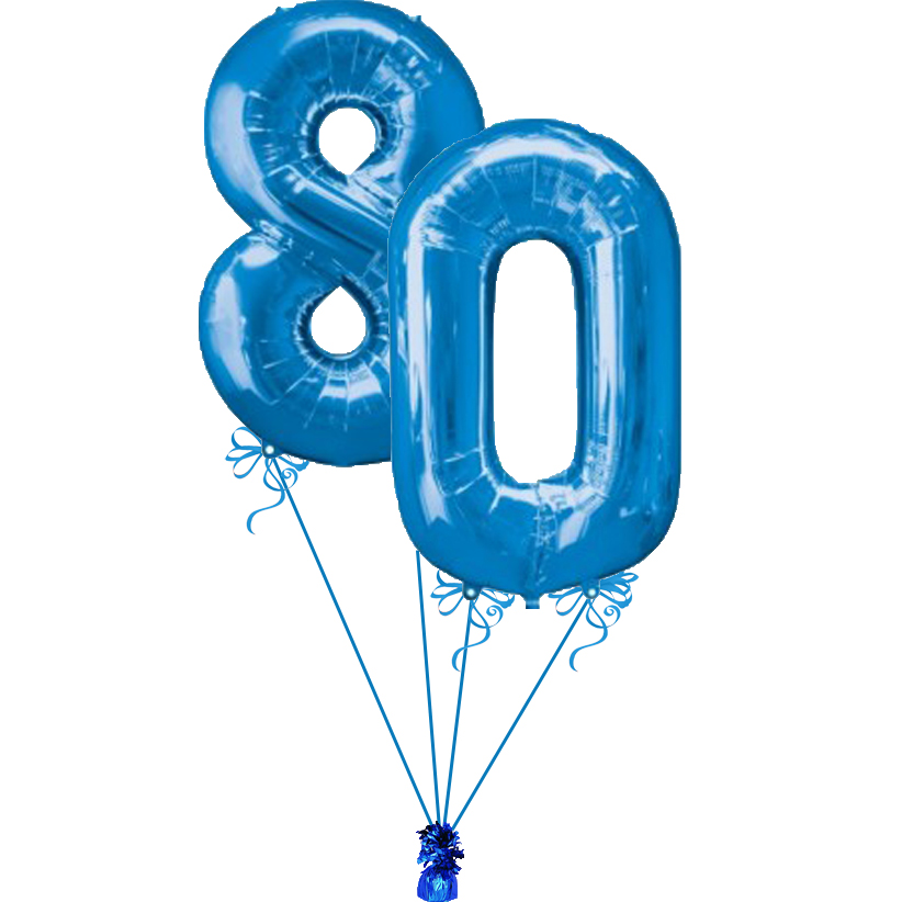 80th Birthday Numbers Clipart.