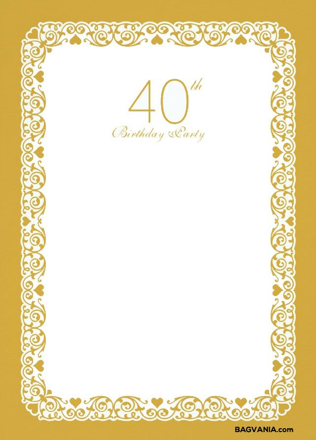 printable 40th birthday invitations.