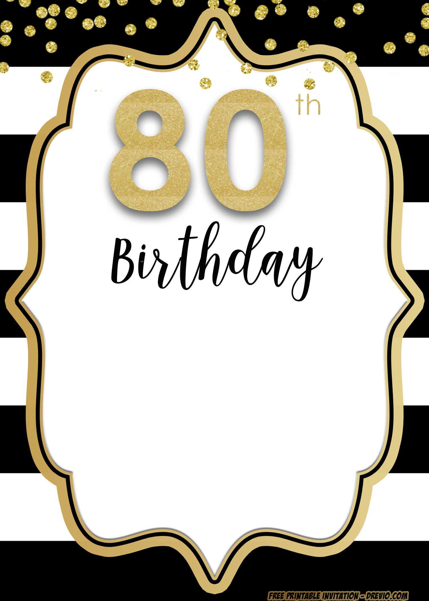 free printable 80th birthday invitations.