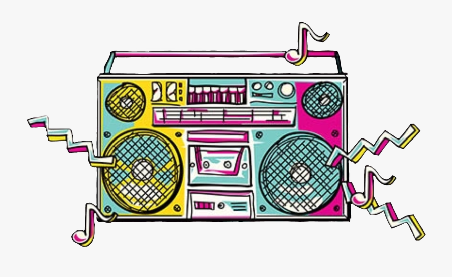 Boombox 80s Png , Png Download.