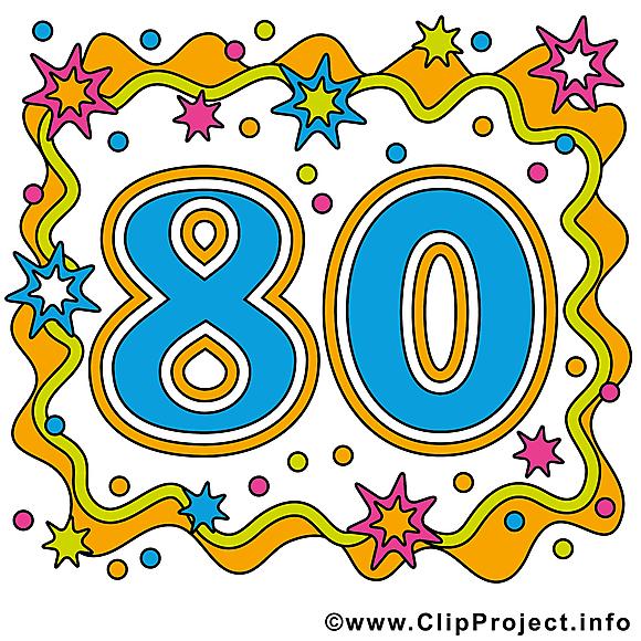 80 ans clipart.