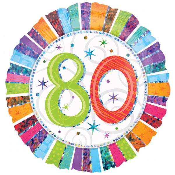 Free 80th birthday clip art.