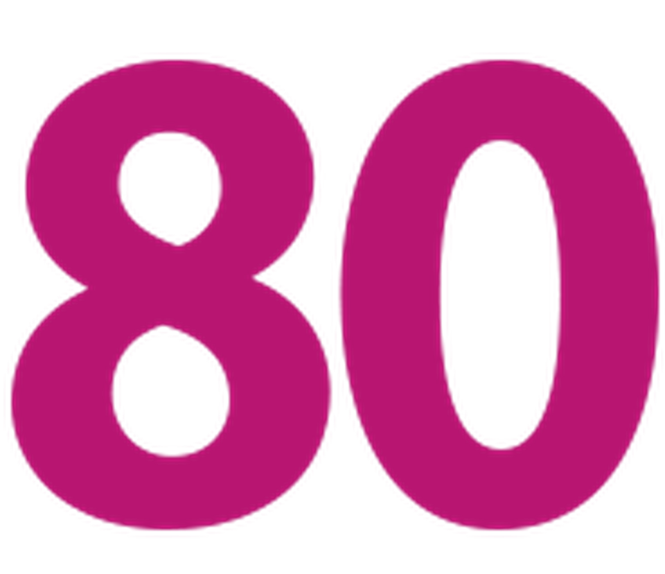 80 clipart number 80.