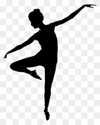 Contemporary Dance Dancer Silhouette Clipart.