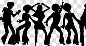 Dance Disco Silhouette , milo transparent background PNG.