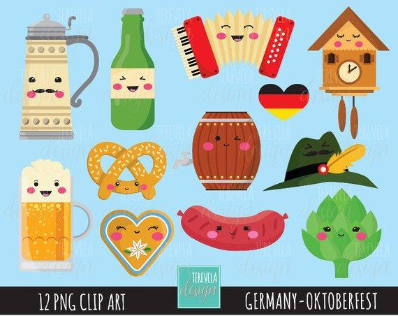 80% SALE GERMANY clipart, octoberfest clipart, kawaii.
