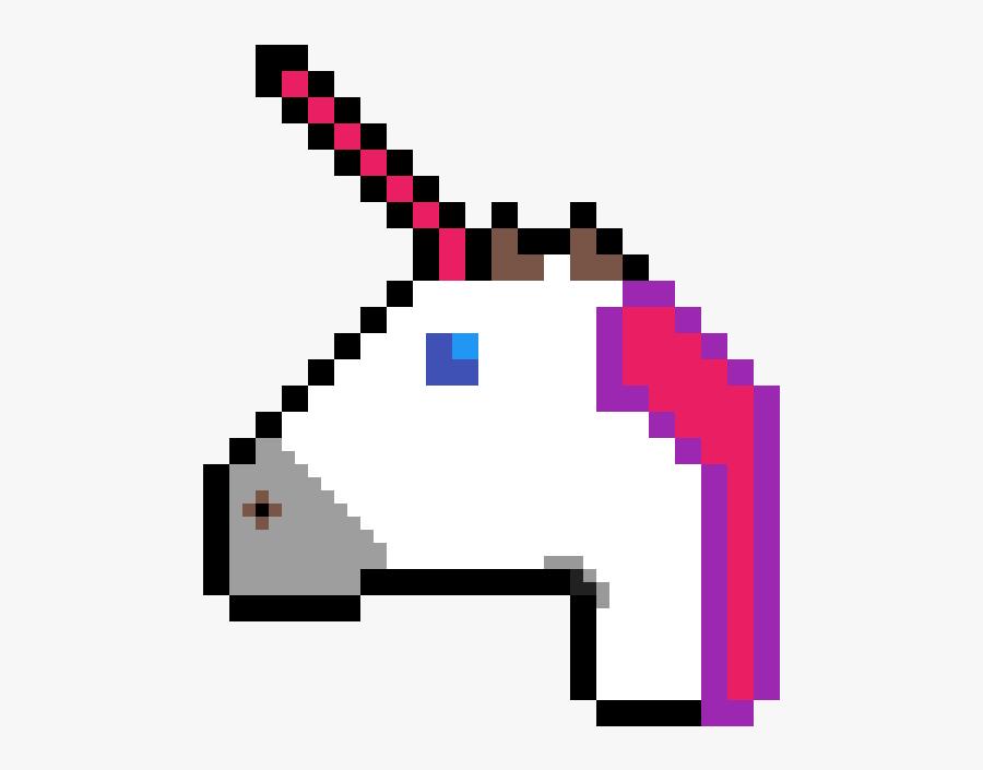 Pixel Art Unicorn Emoji Clipart , Png Download.