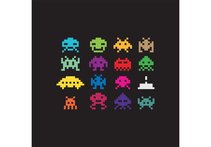 Pixel Vector Space Invaders.
