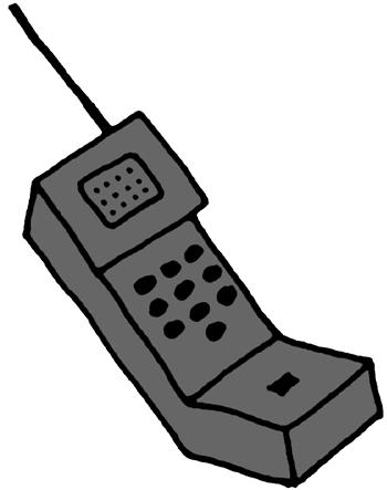 Brick Phone Clipart.
