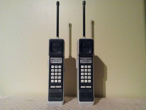 Vintage Brick Cell Phone looking Walkie Talkies 80s 90s Prop.