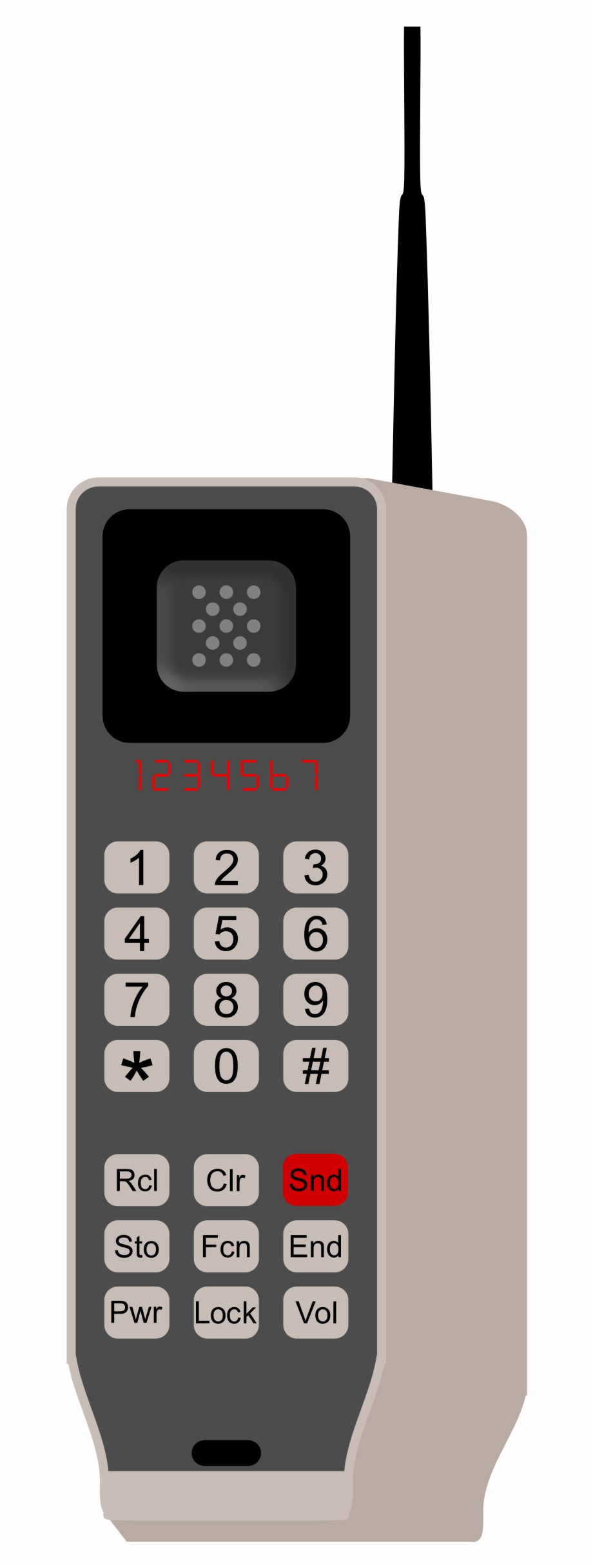 This Free Icons Png Design Of Brick Phone.