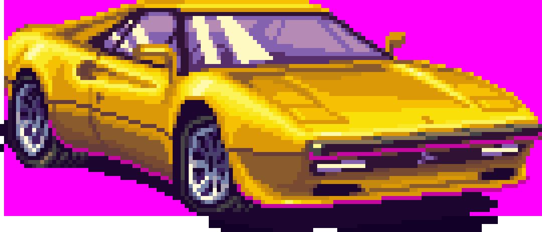 Retro 80s Car Png , Transparent Cartoon.