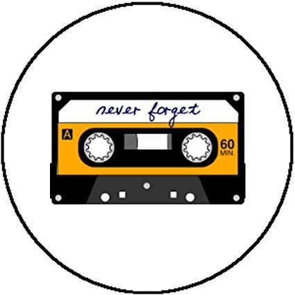 Amazon.com: Handmade Badge Button Retro 80s Cassette Never.