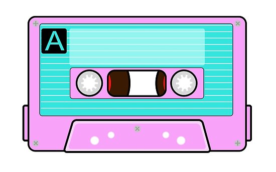 \'Back to the 80\'s Cassette Tape\' Poster by circuscat.