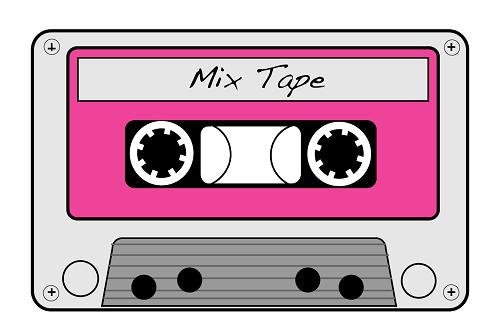 80s Cassette Tape Clipart.