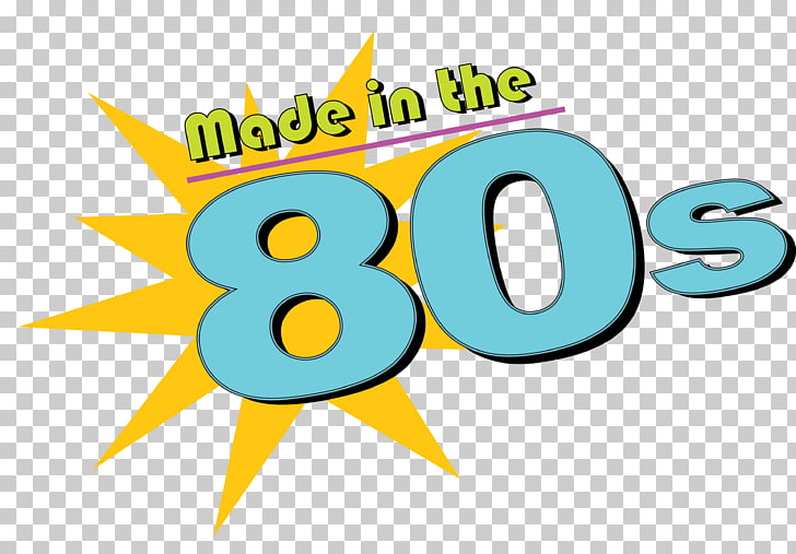 Logo 1980s Graphic design, 80s PNG clipart.