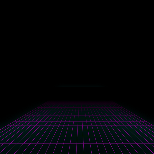 80s neon grid.