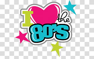 I Love The 80s transparent background PNG cliparts free.