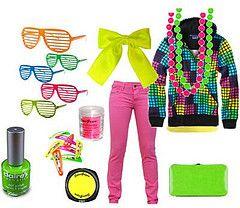 80s Neon Fashion.