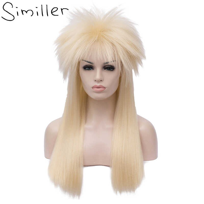 Similler Adult 70s 80s Halloween Costumes Wig Rocking Dude.