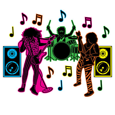 80\'s Hair Band Silhouettes (Pack of 180).