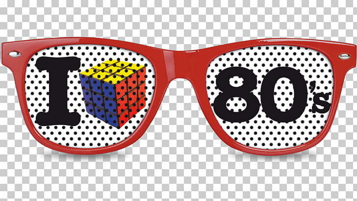 1980s Goggles, 80s PNG clipart.