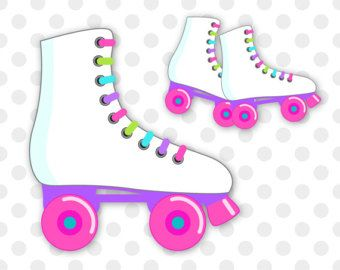 80s Roller Skating Clipart.