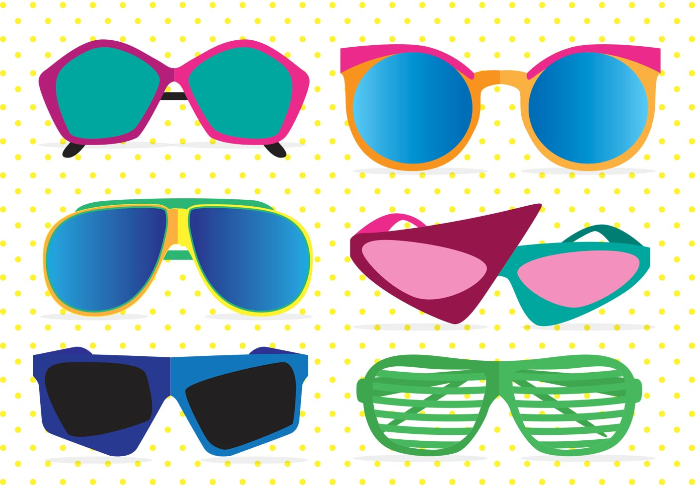 80\'s Sunglasses Vectors.