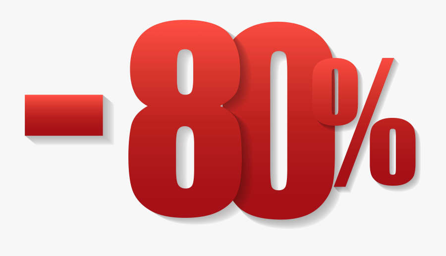 80% Off Sale Png Clipart Image.
