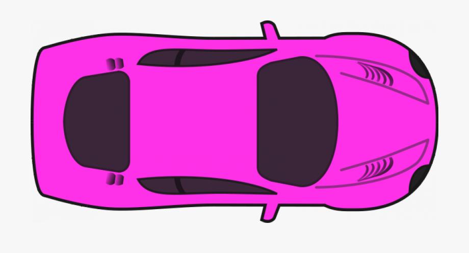 Pink Racing Car Vector Clip Art.
