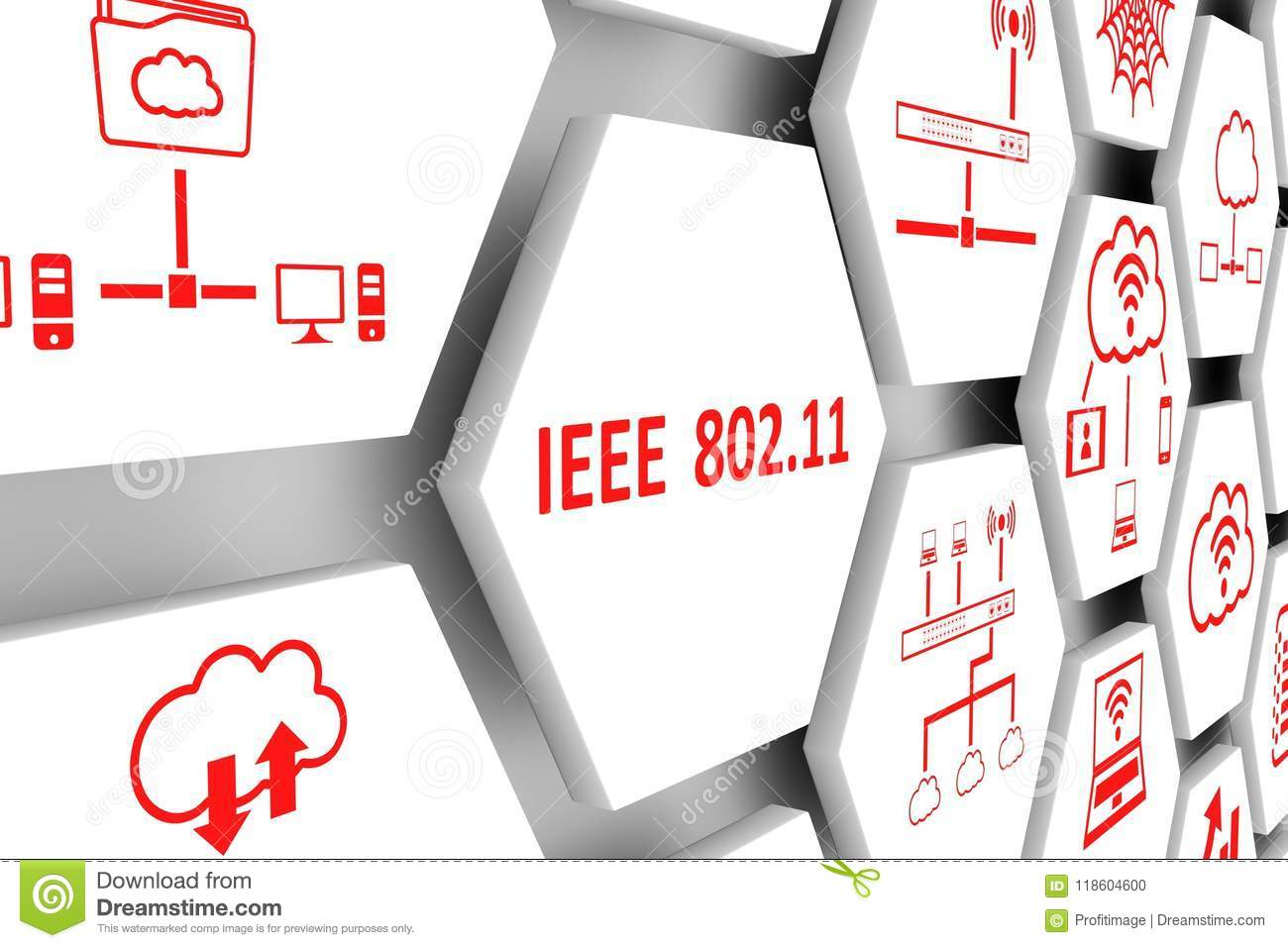 IEEE 802 11 concept stock illustration. Illustration of illustration.