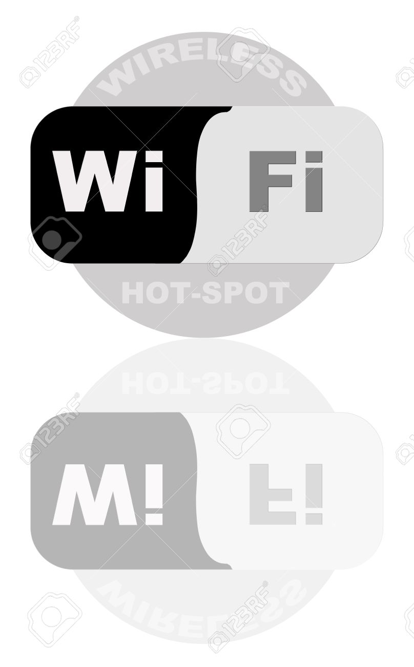 Portrait Of Wireless 802.11 Hot Spot Sign Stock Photo, Picture And.